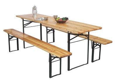 Festivalset, bord + 2 bänkar 220x60, höjd75cm