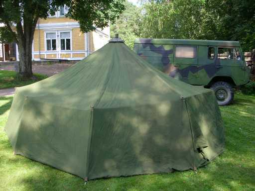 12 manna tält med kamin